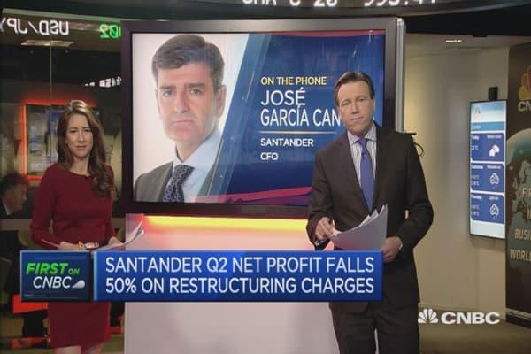 Earnings shows strength of Santander's diversification: CFO
