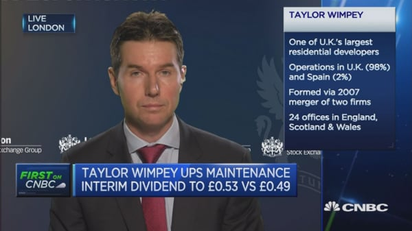 Under-supply of housing fundamentally helps us: Taylor Wimpey