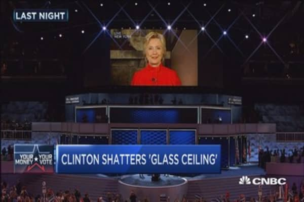 Hillary Clinton shatters 'glass ceiling'