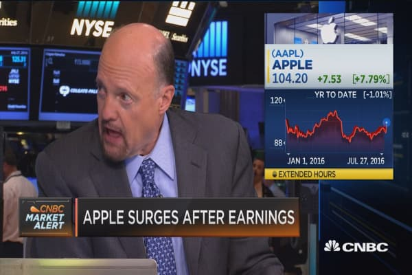 Tim Cook 'played a good game,' Cramer says