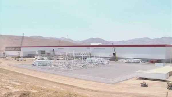 Tesla CEO says gigafactory can produce more than expected