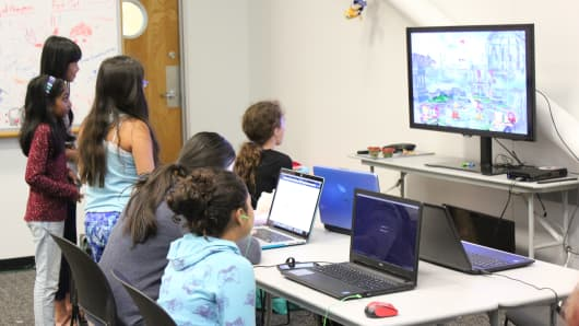 Girls Make Games camp