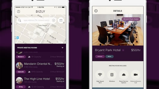 BIZLY, smartphone application