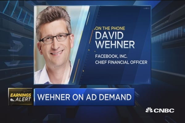 Facebook's Wehner: Good strength on mobile