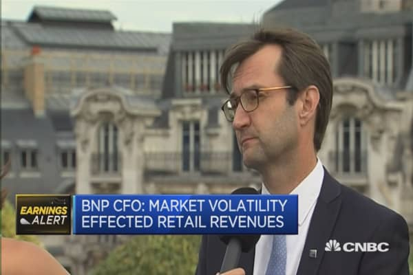 Low interest rates weigh on performance: BNP Paribas CFO