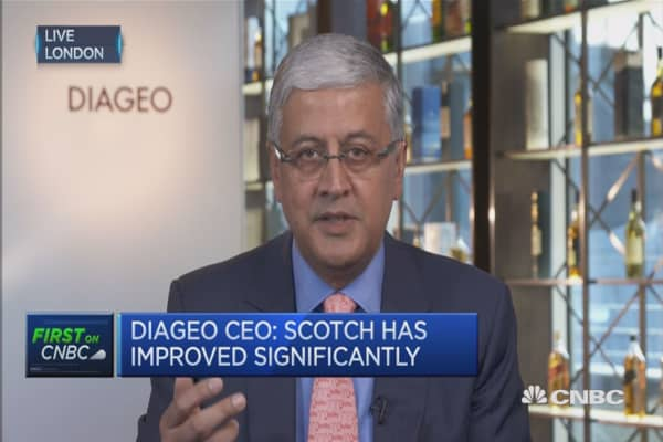 We grew the topline by 3%: Diageo CEO