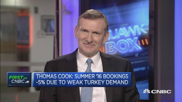 Thomas Cook trims guidance due to terror attacks and Turkey coup