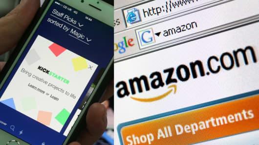 Kickstarter and Amazon
