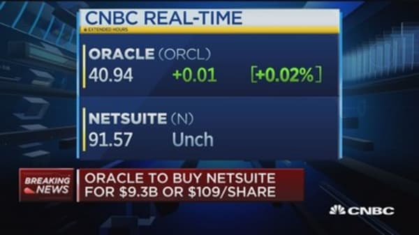 Oracle to buy NetSuite for $9.3B