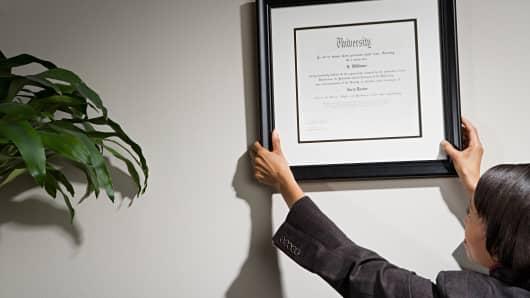 Hanging Diploma