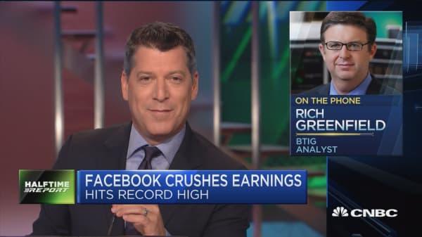 Facebook crushes earnings