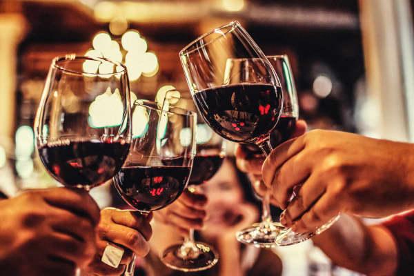 Wine glasses, cheers