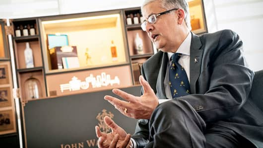 Ivan Menezes, chief executive officer of Diageo Plc