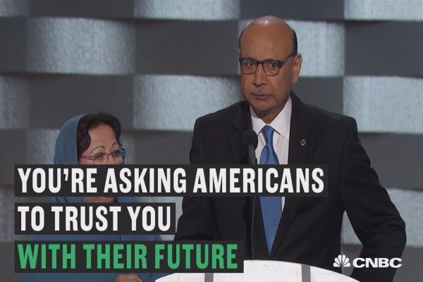 Dad of Muslim American war hero addresses Donald Trump