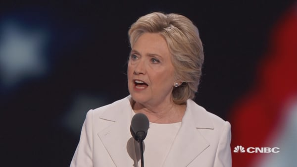 Hillary Clinton: 'I accept your nomination for president of the United States!'