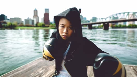 Lynn Le launched her start-up Society Nine in 2015 to cater specifically to female fighters.