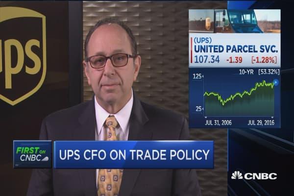 UPS CFO on Amazon
