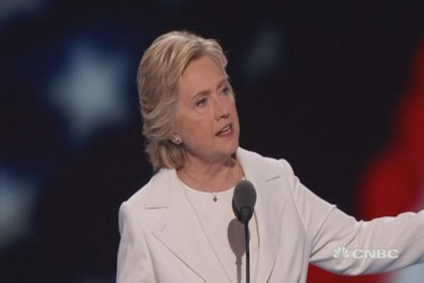 Hillary Clinton: 'We are going to follow the money'