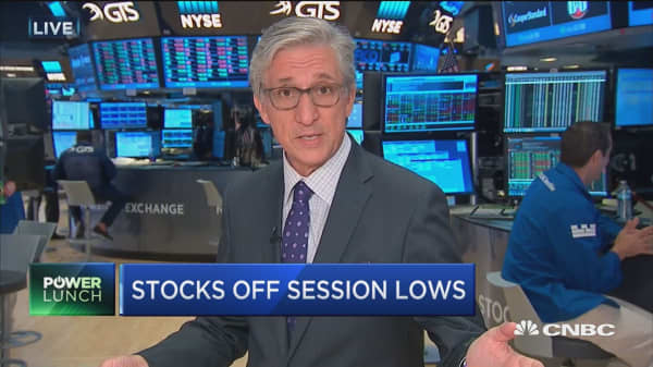 Stocks off session lows