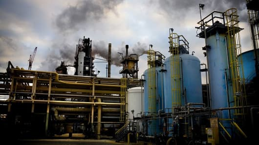 Exxon mobile refinery