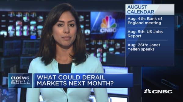 What could derail markets next month?