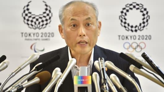 Former Tokyo governor, Yoichi Masuzoe, at a press conference on June 10, 2016.