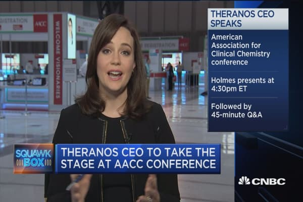 Theranos CEO to take the stage at AACC conference