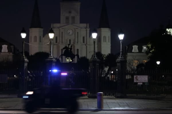 Torres' app connects residents with a force of off-duty New Orleans police officers who patrol the neighborhood in utility vehicles.
