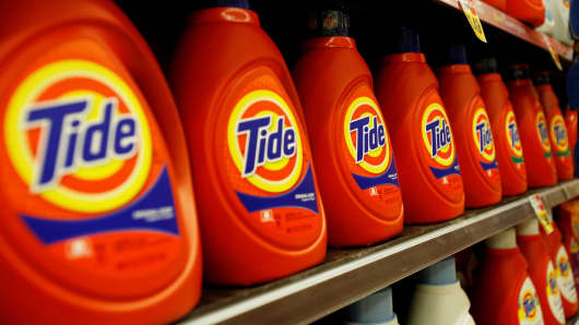 Tide by Procter & Gamble on sale at a Ralphs grocery store in Pasadena, California.