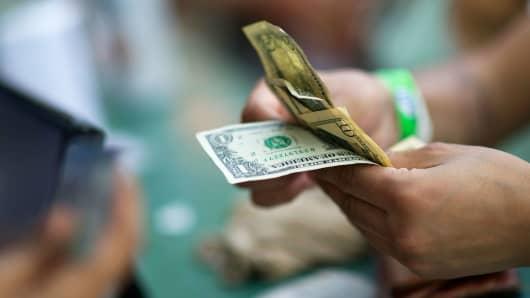 Cash transaction dollars