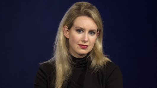 Elizabeth Holmes, CEO of Theranos.