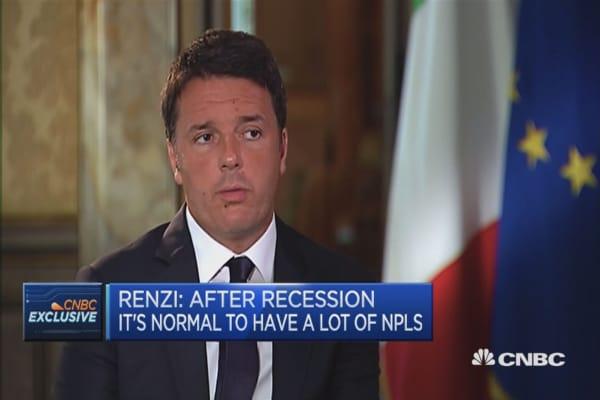 Growth is best way to solve NPL problem: Matteo Renzi