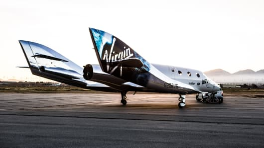 The second version of Virgin Galactic's SpaceShipTwo, which was renamed the VSS Unity when it was unveiled in February 2016.