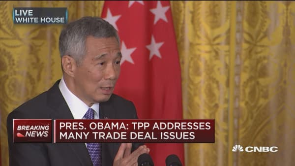 Singapore PM Lee on TPP and trade deal issues