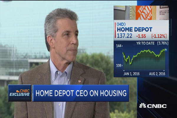Home Depot CEO: 'Overall environment in housing is good'