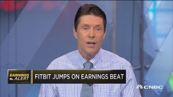 Fitbit jumps on earnings beat
