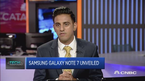 Samsung launches the Galaxy 7