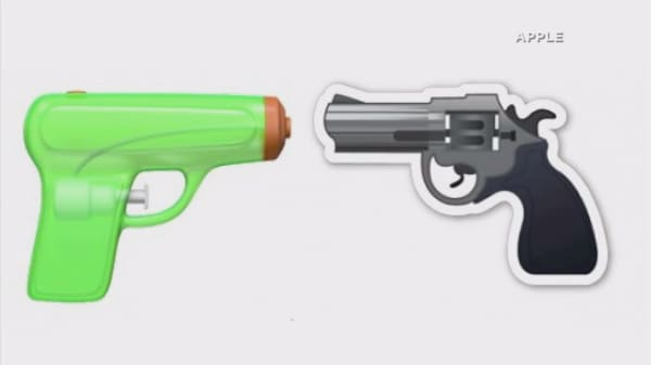 Apple to replace the gun emoji with a squirt gun in iOS10