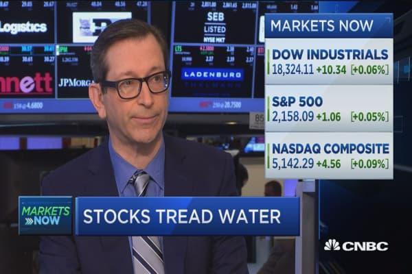Stocks tread water