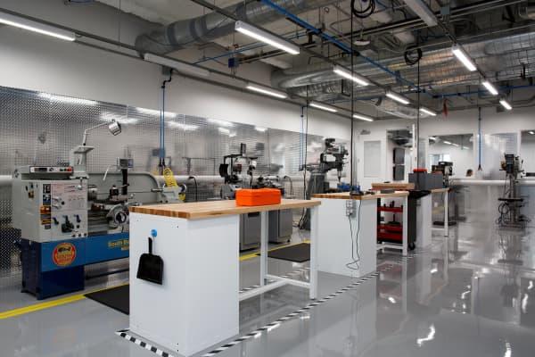 Inside the Facebook hardware lab in Menlo Park, Calif.