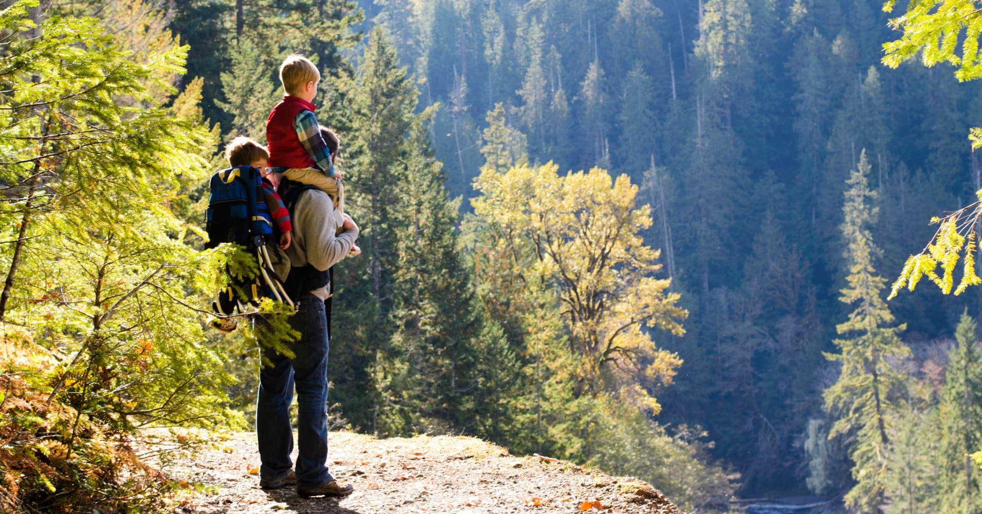Family leave slider, Washington State, Climb