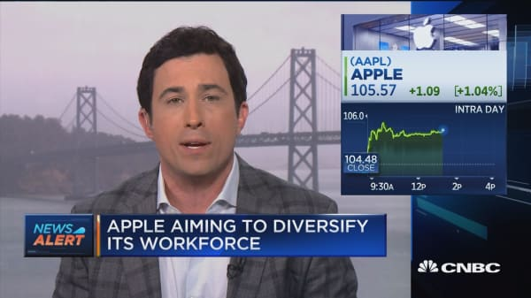 Apple hires more women and minorities in past year