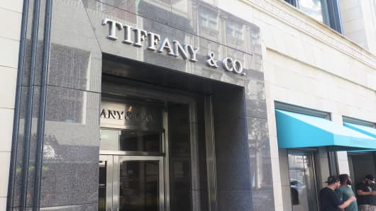 Tiffany & Co. store in Philadelphia, PA.