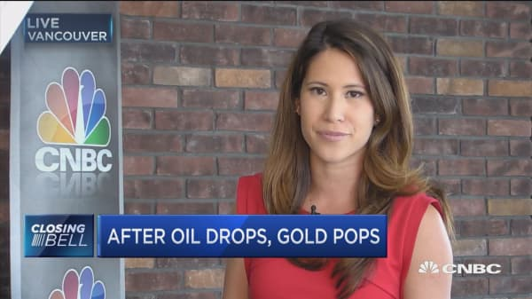 After oil drops, gold pops