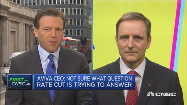 I am not sure what a rate cut will achieve: Aviva CEO