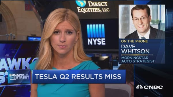 Tesla Q2 results miss