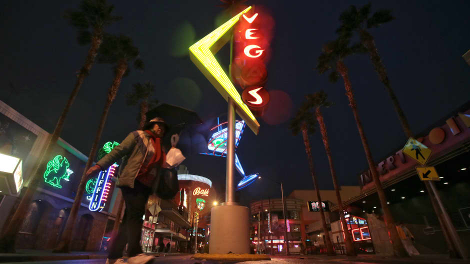 Refurbished neon signs brighten up the once blighted Fremont St. in downtown Las Vegas where Zappos.com CEO Tony Hsieh has contributed $350 million for redevelopment.