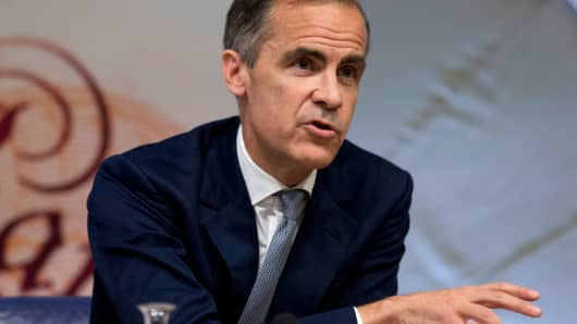 Governor of the Bank of England Mark Carney hosts a quarterly Inflation Report press conference at the Bank of England in central London, Britain August 4, 2016.