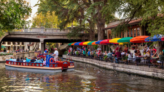 Riverwalk in San Antonio, Texas.