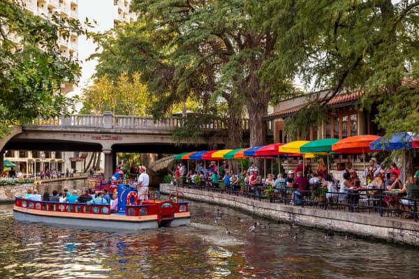 Riverwalk in San Antonio, Texas.